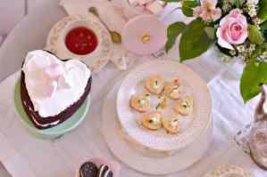 Vintage Valentines Tea Party & Savory Crab Cheesecakes