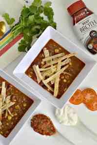 Instant Pot Shredded Beef Taco Soup (with crockpot variation)
