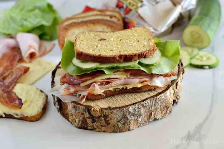 Big, Buff & Cheesy Gluten-Free Sandwich | gluten free lunch ideas | gluten free sandwich recipes | lunch recipes gluten free | easy gluten free recipes | how to make a gluten free sandwich | homemade gluten free sandwich recipes || This Vivacious Life