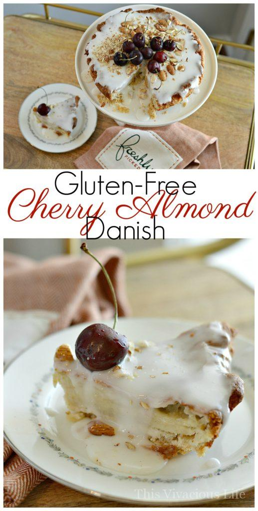 This gluten-free cherry almond danish is a fantastic start to the day. It's an extra special treat any morning or even as an afternoon snack.   gluten free danish recipes   gluten free sweet breakfast recipes   gluten free breakfast recipes   easy gluten free recipes   homemade gluten free recipes   how to make a gluten free danish   recipes using cherries   cherry flavored danish recipes    This Vivacious Life