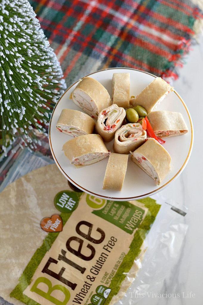 Christmas Party Pinwheels Tortilla Roll Ups Appetizer