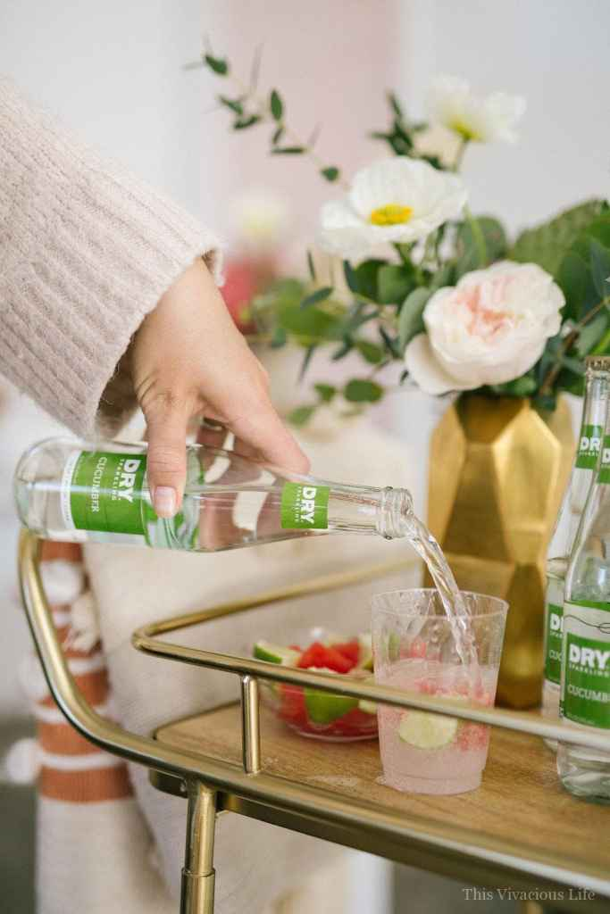 AD This Cactus Succulent Baby Shower + Cucumber Lime Mocktail with Watermelon Ice is the perfect way to celebrate the mommy to be in your life. It is fresh, modern and full of simplistic beauty that she will love!