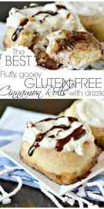 These are hands down the BES›T gluten-free cinnamon rolls and you will never believe they are gluten-free! #glutenfreecinnamonrolls #cinnamonrolls #glutenfreebakedgoods #gooeycinnamonrolls #fluffycinnamonrolls