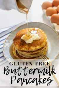 Gluten-free pancakes that are light, fluffy and so full of flavor! They are going to be a new family favorite recipe whether you eat gluten-free or not... They are THAT good! Plus, they can be made in only 20 minutes.#glutenfreepancakes #glutenfreepancakemix #pancakes #pancakemix #glutenfreebreakfast