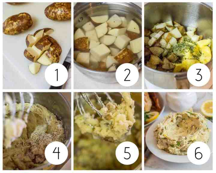 Step by step gluten-free mashed potatoes
