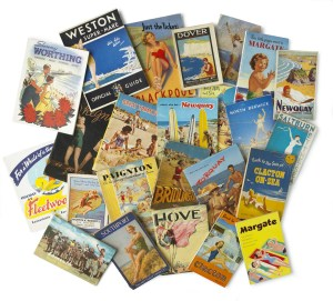 This Way Books - selection of seaside guide books.