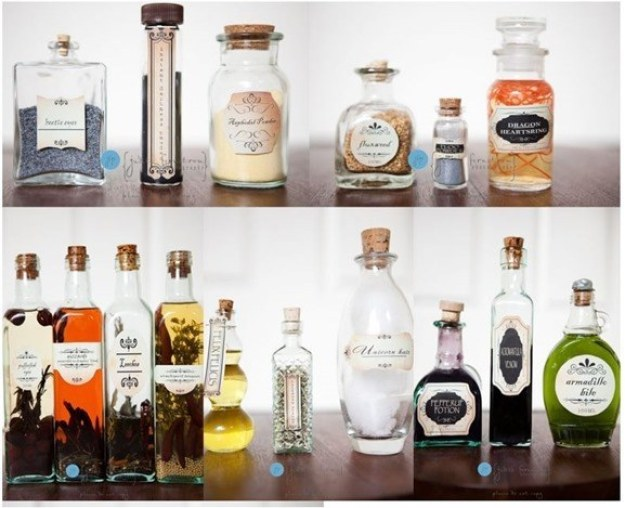 Place potion jars like those found in Snape's cabinets as a centerpiece.