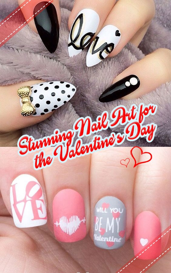 15 Stunning Nail Art for the Valentine\'s Day - This Way Come