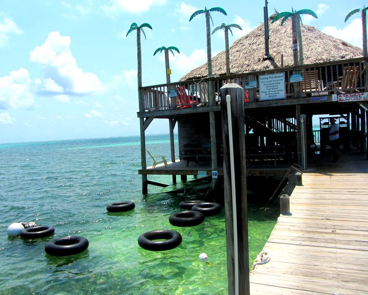 Intertubes floating at the Palapa Bar and Grill