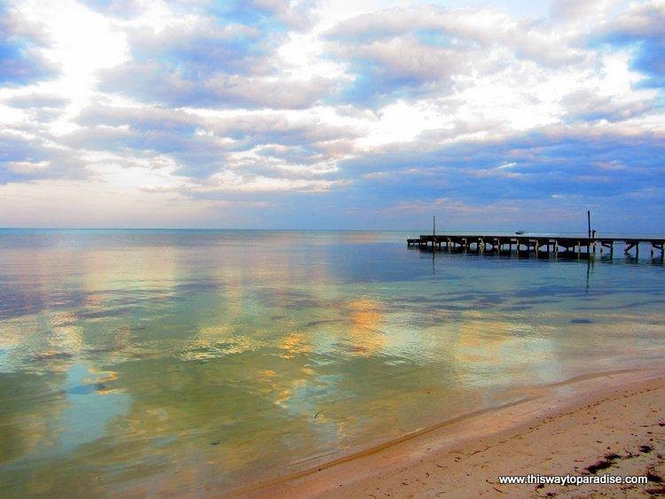Wharf off of Ambergris Caye Beach