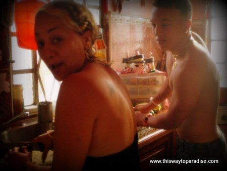 Cuban mother and son