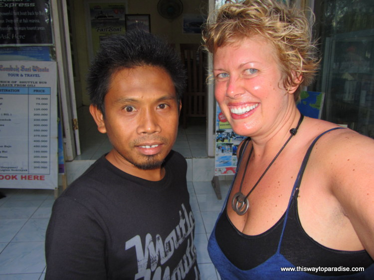 Val with Travel Agent in Asia