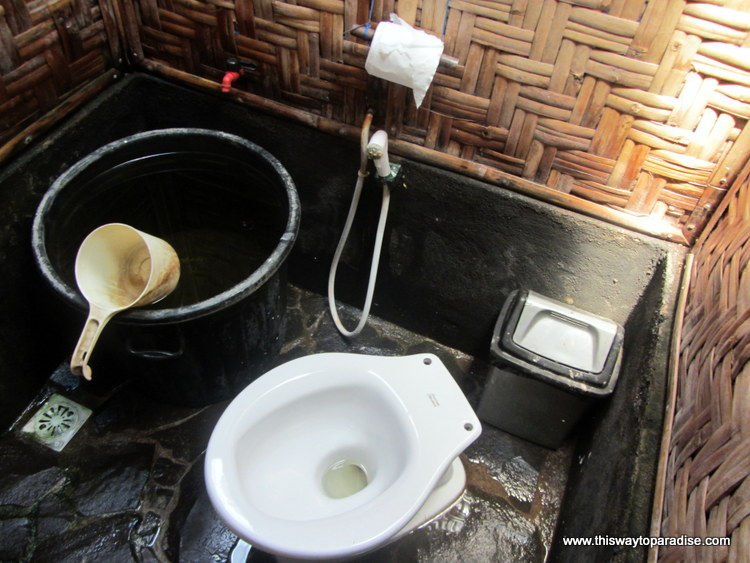 Gili Air bathroom, toilet, Gili Islands