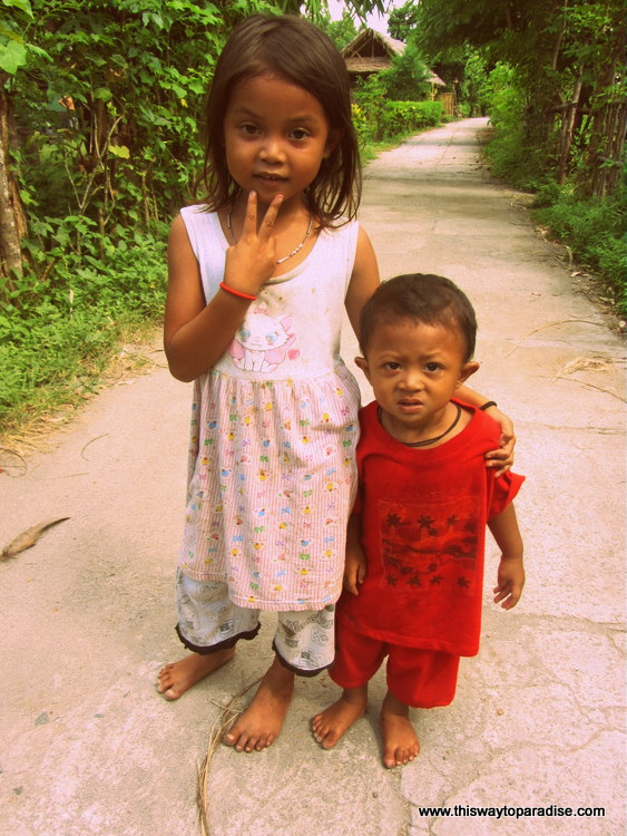 Children on Gili Air, Gili Islands