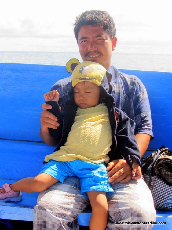 Gili child asleep, Gili Air, Gili Islands ferry