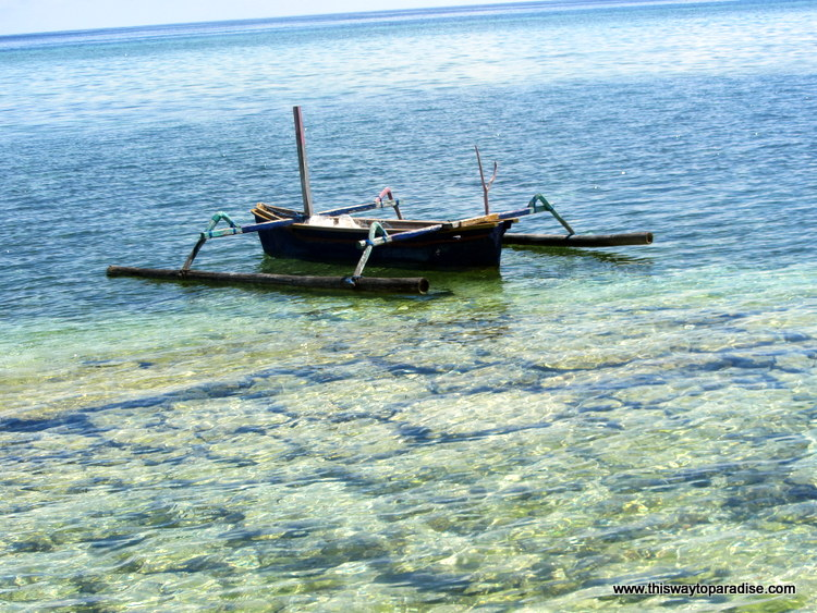 Boat on Gili Meno