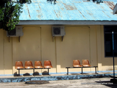 Waiting room at Kei Island, Tual LUV airport
