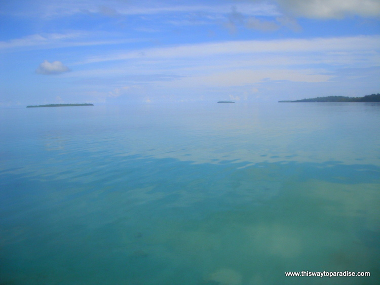 Glassy water of Kai Island