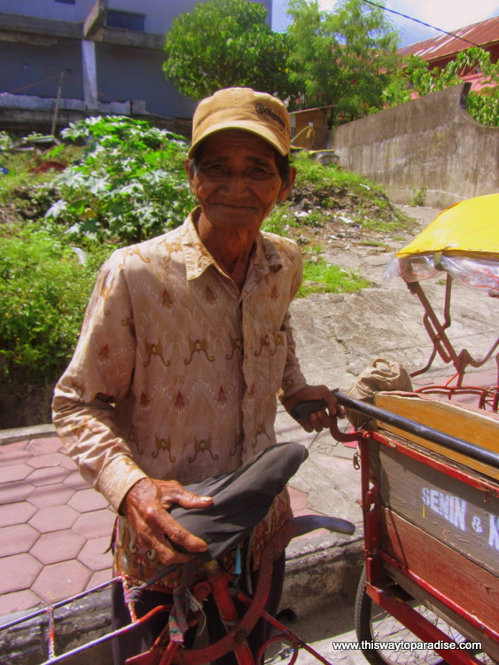 Becak Driver in Ambon