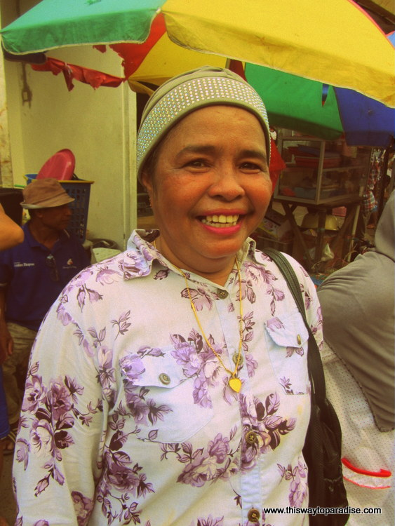 Happy woman in Ambon