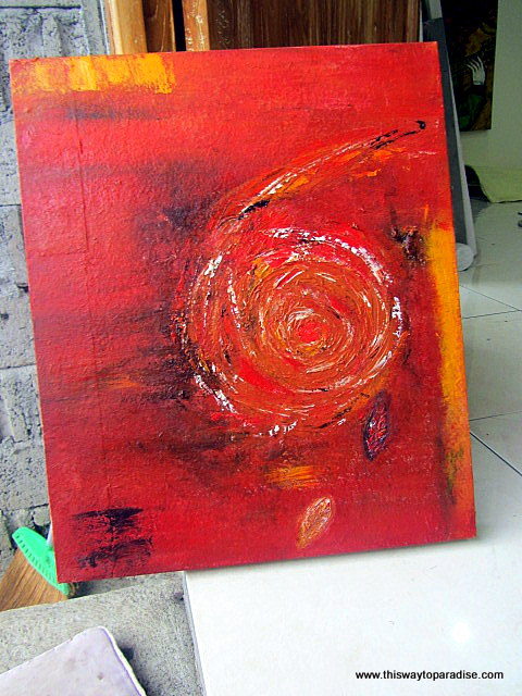 My painting in how to pain class Ubud, Bali