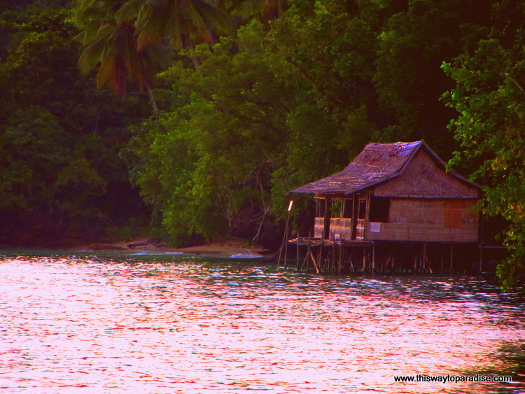 House on the water in Raja Ampat