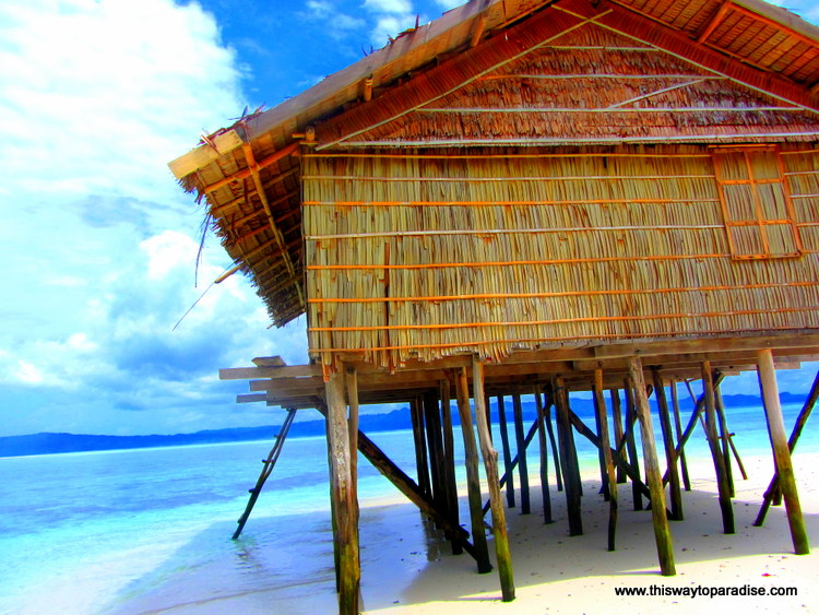 Raja Ampat dive shack on the beach