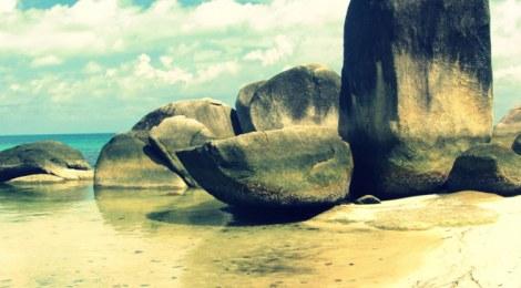 Tanjung Tinggi Beach, Belitung Island, Sumatra