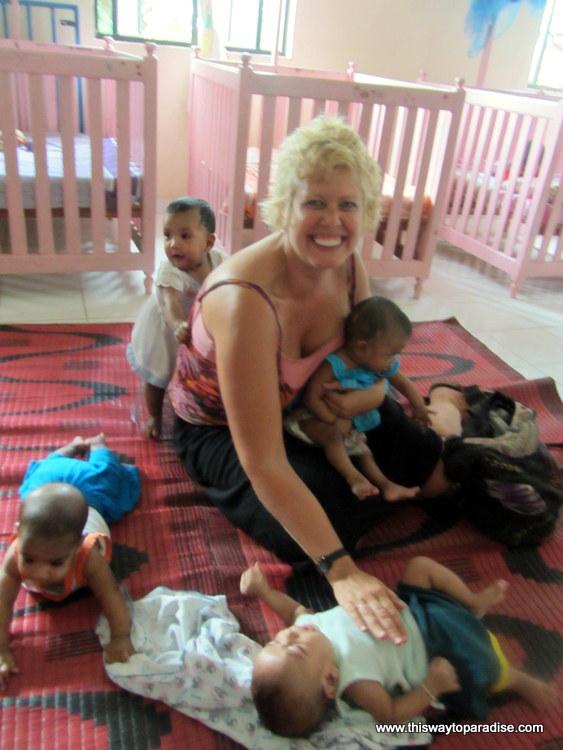 Babies in Sri Lanka orphanage