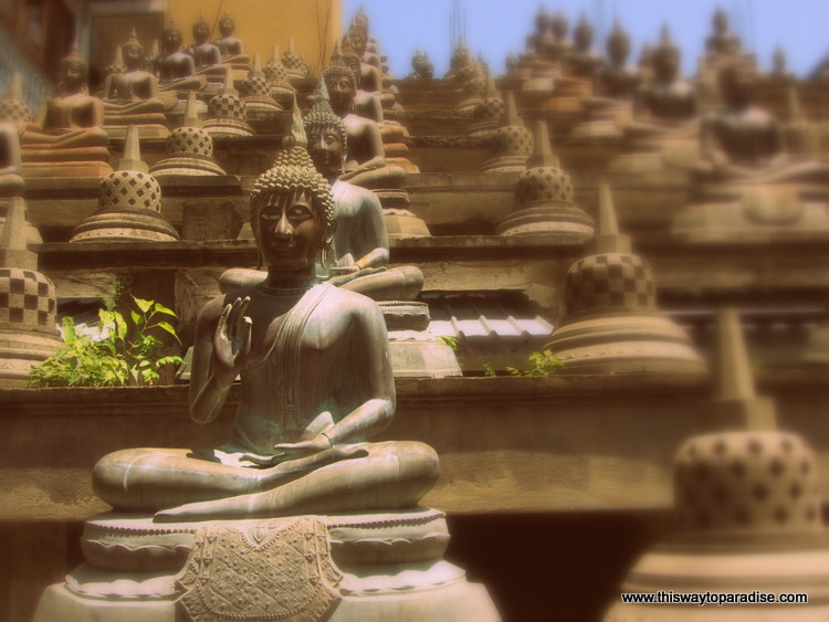 Buddha temple in Colombo, Sri Lanka