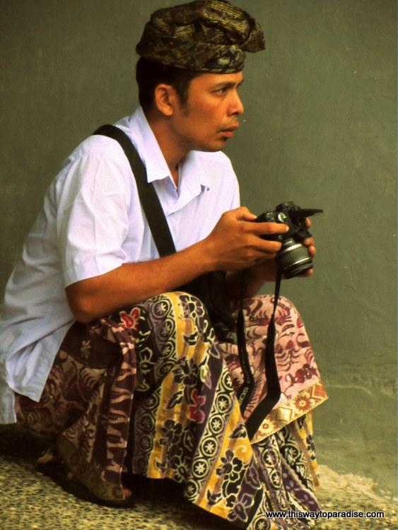 Man with camera, Bali