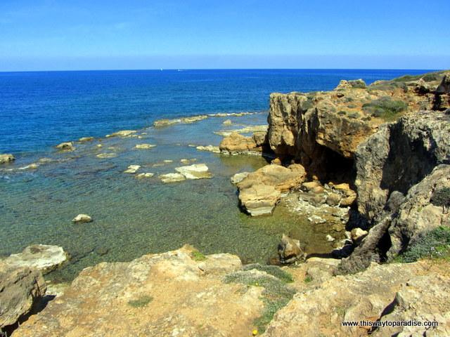 Rocky cliffs at Agii Apostoli beach