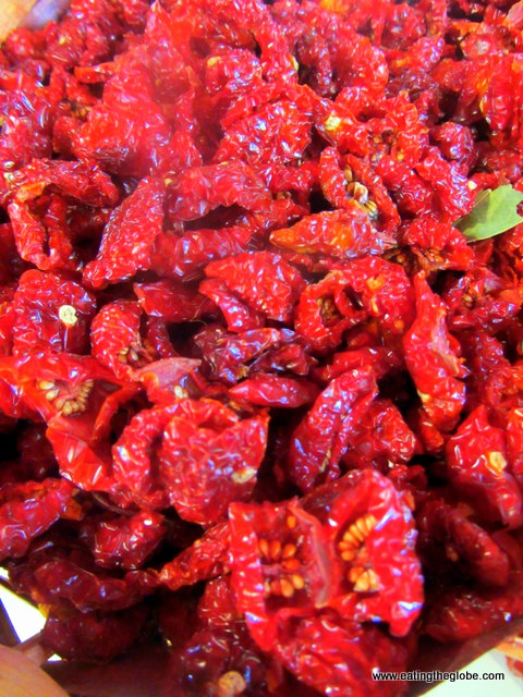 Sun-dried tomatoes at Palermo Market