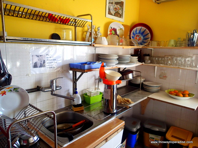 The kitchen at Gianni house