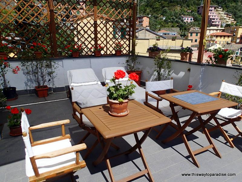 Terrace at B&B SoleMare Cinque Terre