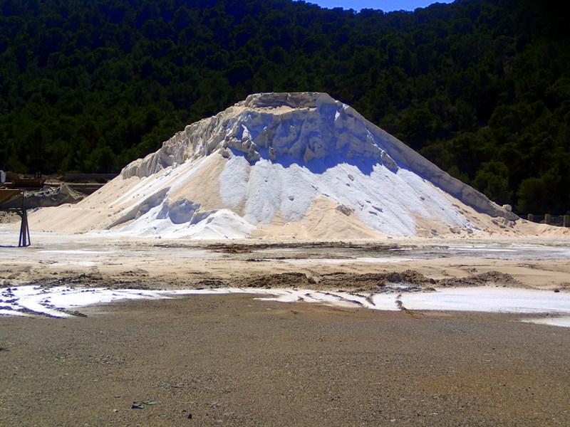 Salt flats in Ibiza