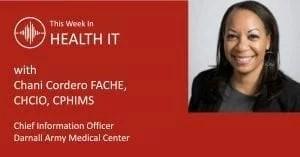 Chani Cordero This Week in Health IT