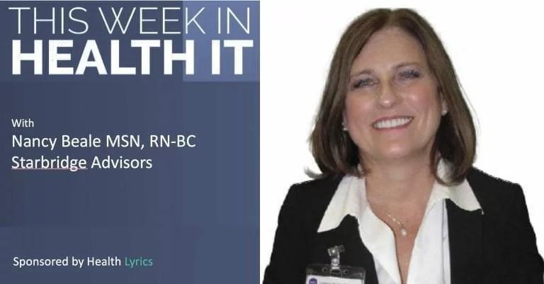 Nancy Beale - This Week in Health IT