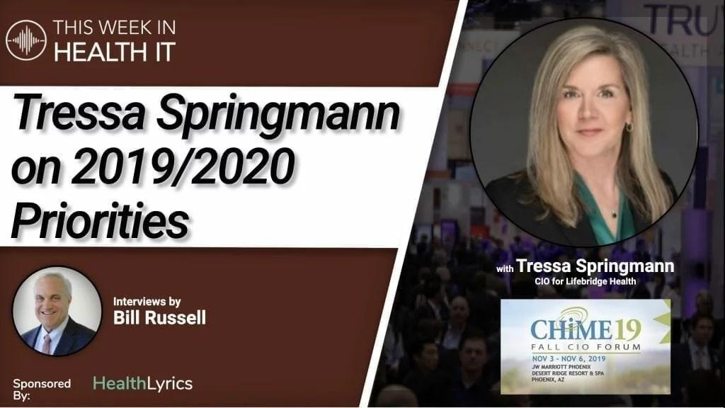 Tressa Springmann This Week in Health IT