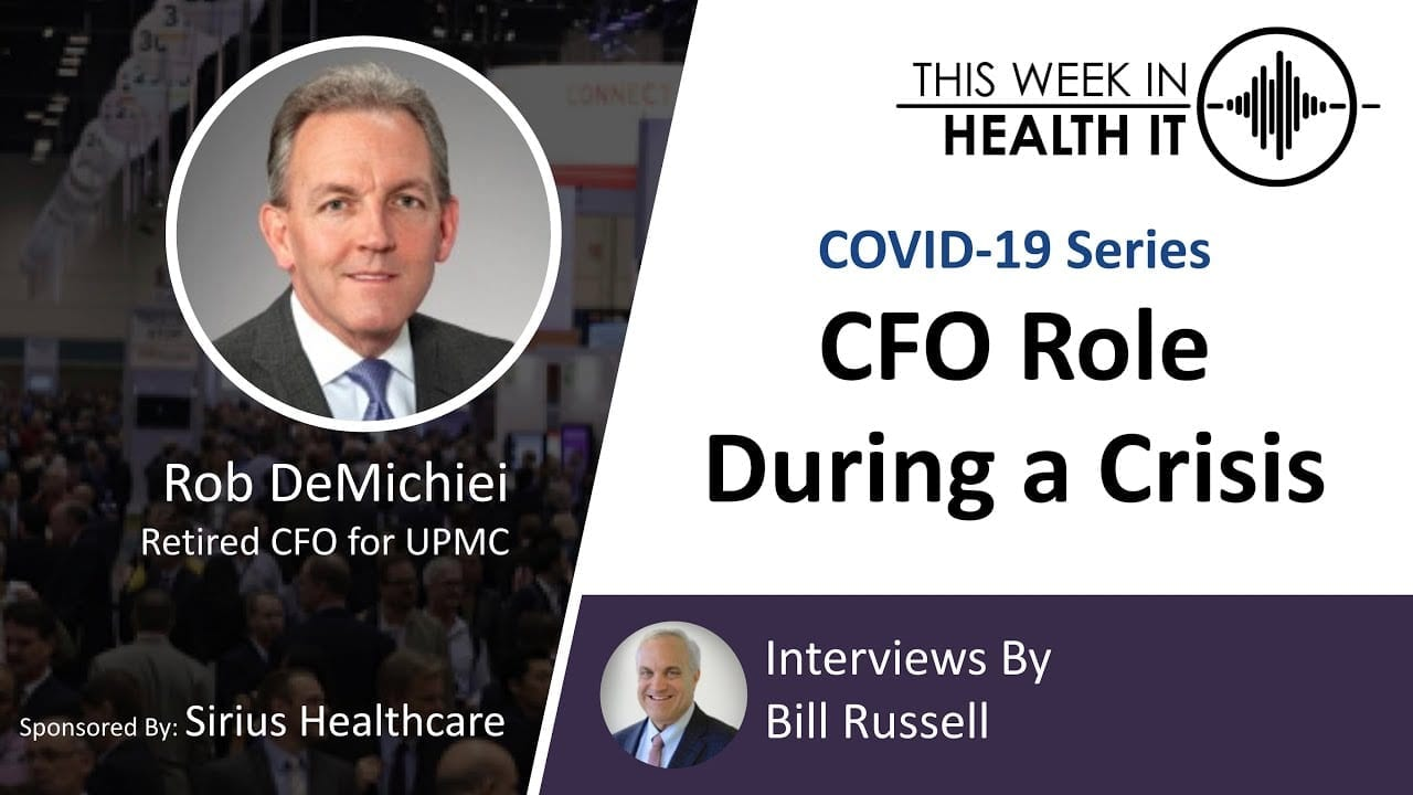 Rob DiMichiei UPMC This Week in Health IT