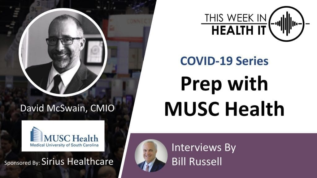 MUSC Health - David McSwain This Week in Health IT