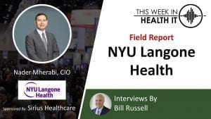 NYU Langone This Week in Health IT
