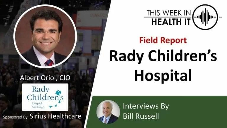 Rady Children's This Week in Health IT