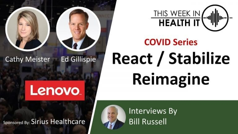 COVID Series Respond Stabilize and Reimagine with Lenovo Healthcare