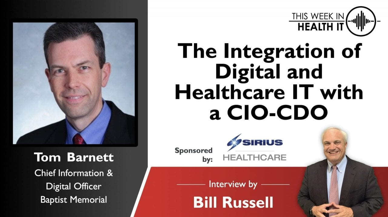 The Integration of Digital and Healthcare IT with a CIO-CDO