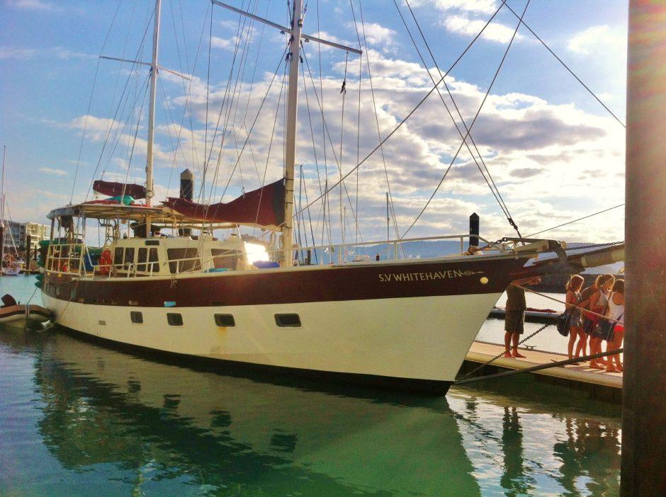 The SV Whitehaven, taking us sailing around the Whitsunday Islands, Australia