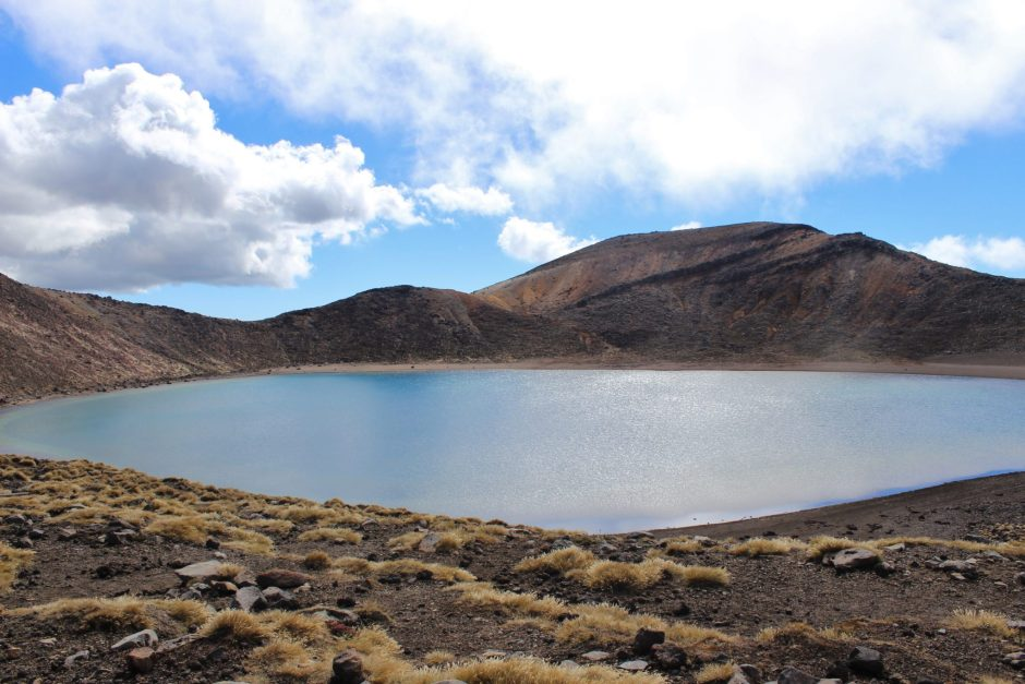 The Blue Lake on the Tongariro Alpine Crossing, New Zealand