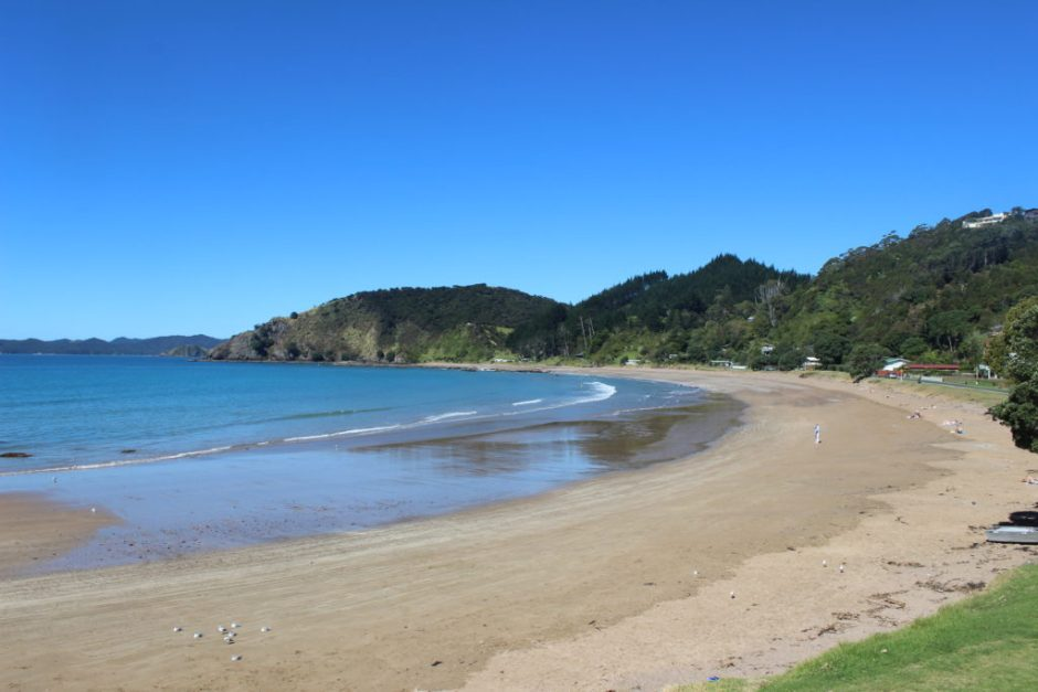 Long Beach in the Bay of Islands, New Zealand