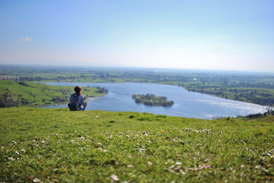 Looking out over Lough Gur, Ireland