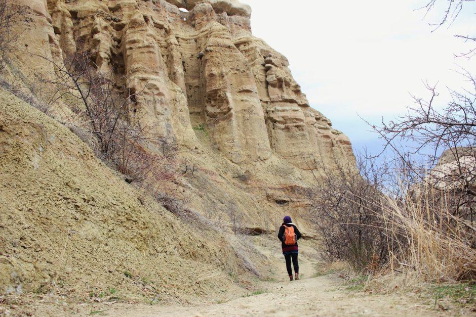 Walking through Pigeon Valley, Cappadocia, Turkey